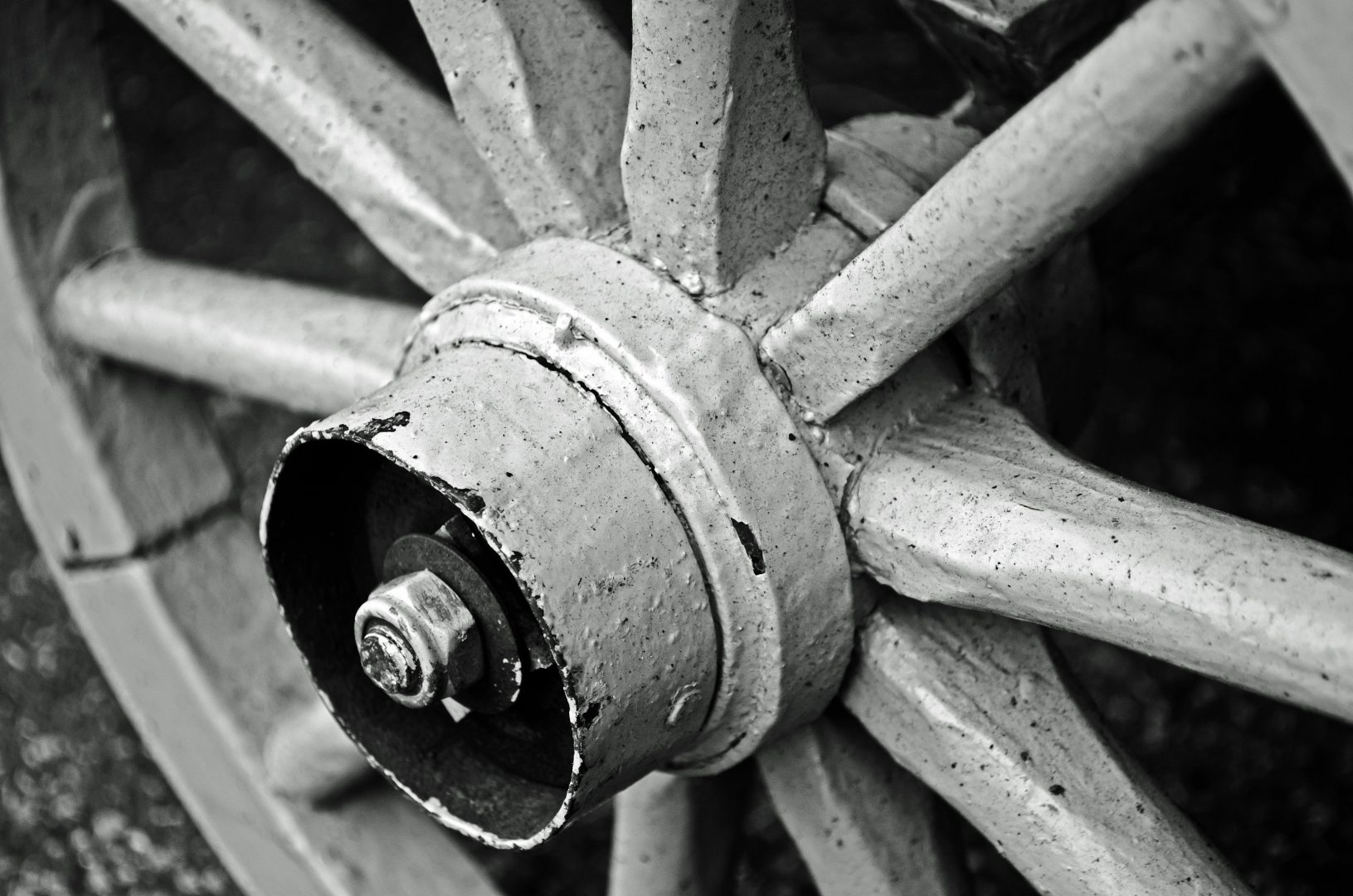 Image of Old wooden wheel